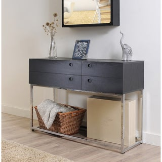 Marque Functional Black Finish Console Table