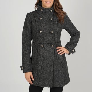 Vince Camuto Women's Double-breasted Herringbone Coat
