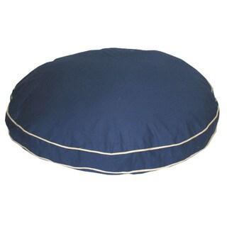 Carolina Pet Classic Blue Cotton Canvas Round Pet Bed