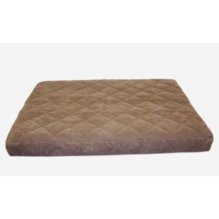 Carolina Pet Jamison Quilted Orthopedic Protector Pad Brown Pet Bed