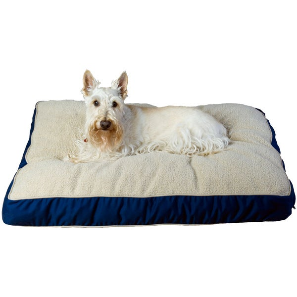 Carolina Pet Four Season Jamison Blue with Cashmere Berber Top Pet Bed