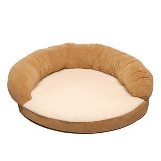 Carolina Pet Caramel Tan Ortho Sleeper Bolster Pet Bed