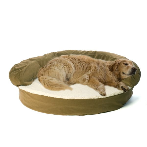 Carolina Pet Sage Green Ortho Sleeper Bolster Pet Bed