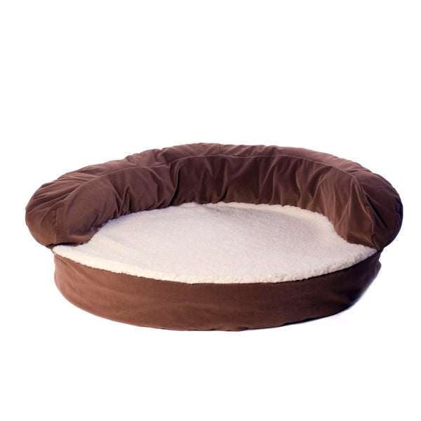 Carolina Pet Chocolate Brown Ortho Sleeper Bolster Pet Bed