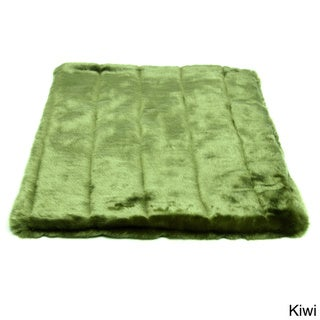 Tiger Dreamz Green Faux Fur Pet Bed