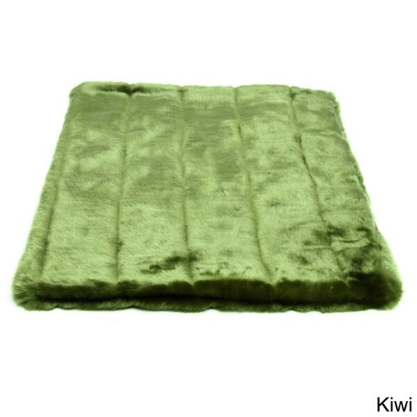 Tiger Dreamz Green Faux Fur Pet Bed