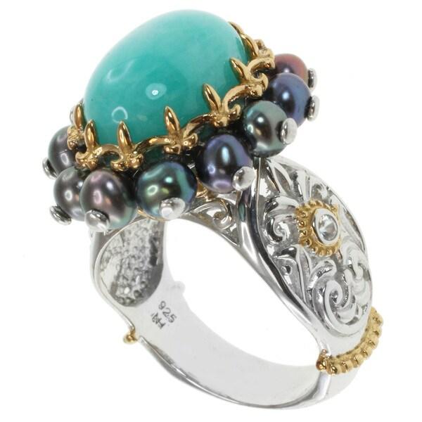Michael Valitutti Two-tone Amazonite Ring