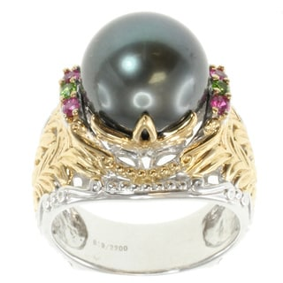 Michael Valitutti Two-tone South Sea Pearl Ring