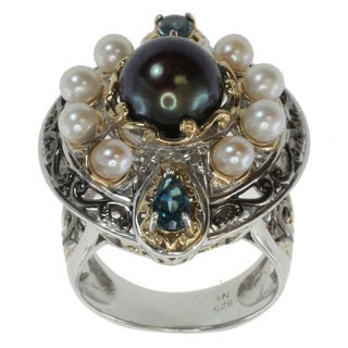 Michael Valitutti Two-tone Pearl Ring