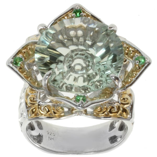 Michael Valitutti Two-tone Green Amethyst Ring