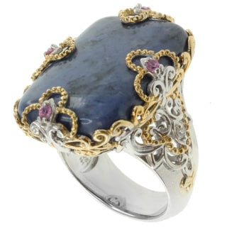 Michael Valitutti Two-tone Dumorierite Ring