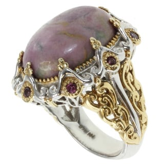 Michael Valitutti Two-tone Duman Stone Ring
