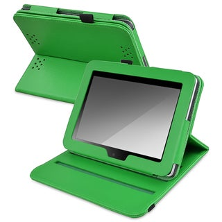 BasAcc Green Leather Swivel Case for Amazon Kindle Fire HD 7-inch