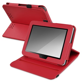 BasAcc Red Leather Swivel Case for Amazon Kindle Fire HD 7-inch