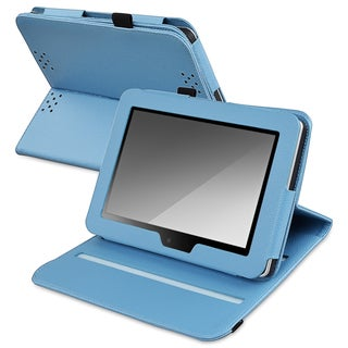BasAcc Blue Leather Swivel Case for Amazon Kindle Fire HD 7-inch
