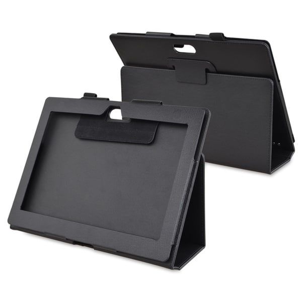 BasAcc Black Leather Case with Stand for Sony Xperia Tablet S