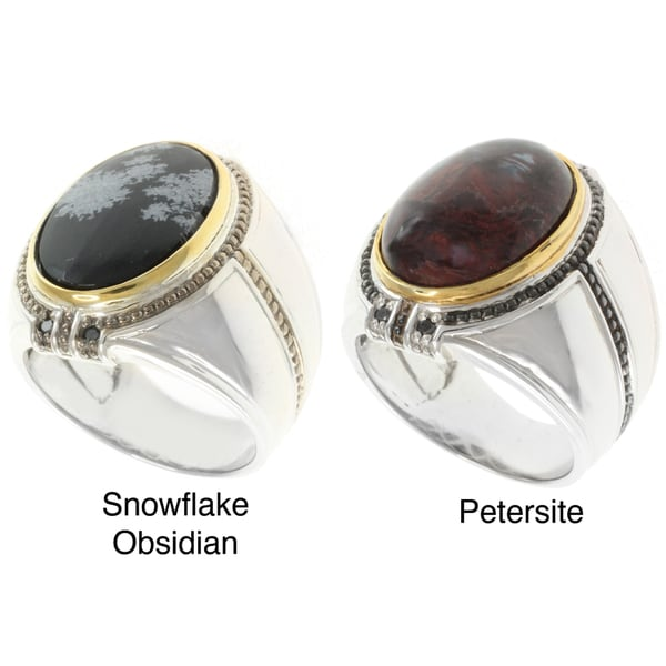 Michael Valitutti Two-tone Gemstone Men's Ring