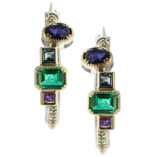 Michael Valitutti Two-tone Multi-Gemstone Earrings