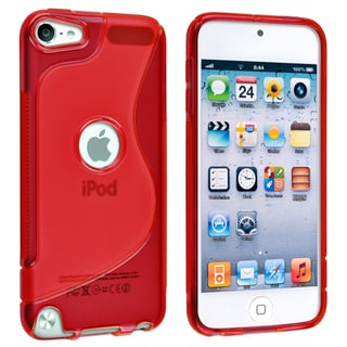 BasAcc Clear Red S Shape TPU Case for Apple iPod Touch Generation 5