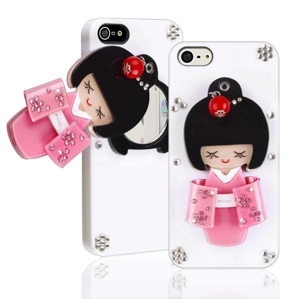 BasAcc White Kimono Girl Mirror Snap-on Case for Apple iPhone 5