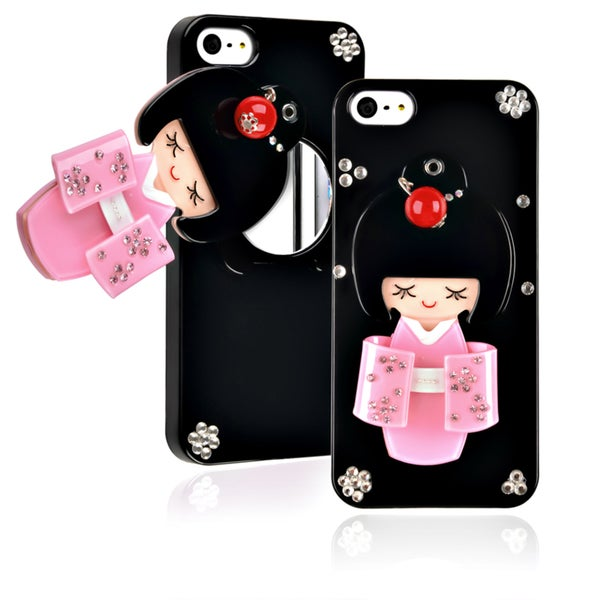 BasAcc Black Kimono Girl Mirror Snap-on Case for Apple iPhone 5