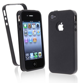 BasAcc Black/ Black Trim TPU Case for Apple iPhone 4/ 4S