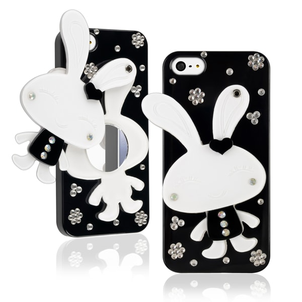BasAcc Black Rabbit Mirror Snap-on Case for Apple iPhone 5