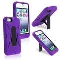 BasAcc Black/ Purple Hybrid Case with Stand for Apple iPhone 5