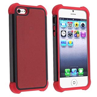 BasAcc Red Skin/ Black Hard Hybrid Armor Case for Apple iPhone 5
