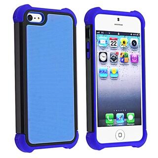 BasAcc Blue Skin/ Black Hard Hybrid Armor Case for Apple iPhone 5
