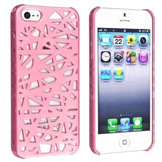BasAcc Pink Bird Nest Rear Snap-on Case for Apple iPhone 5