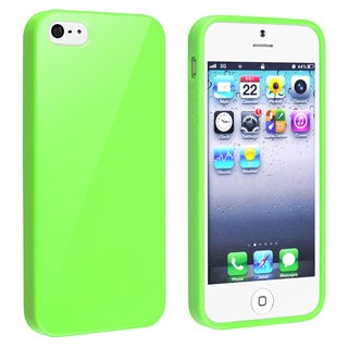 BasAcc Green Jelly TPU Rubber Case for Apple iPhone 5