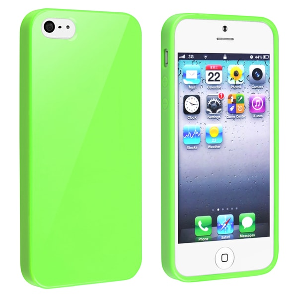 BasAcc Green Jelly TPU Rubber Case for Apple iPhone 5/ 5S