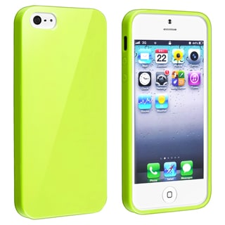 BasAcc Yellow Jelly TPU Rubber Case for Apple iPhone 5