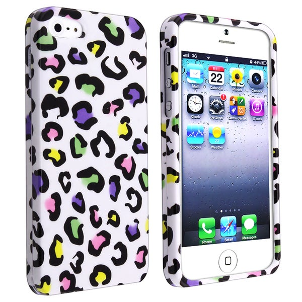 BasAcc Colorful Leopard Snap-on Case for Apple iPhone 5