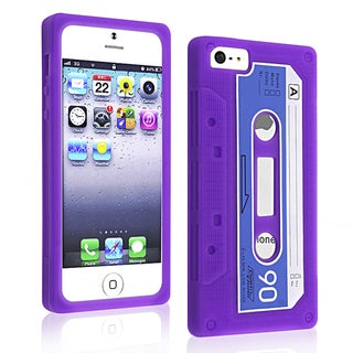 BasAcc Purple Tape Silicone Case for Apple iPhone 5