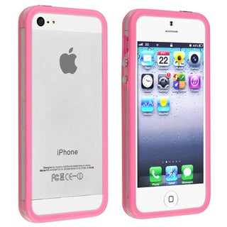 BasAcc Bumper TPU Case with Aluminum Button for Apple iPhone 5