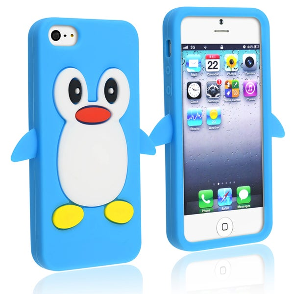 BasAcc Dark Blue Penguin Silicone Case for Apple iPhone 5