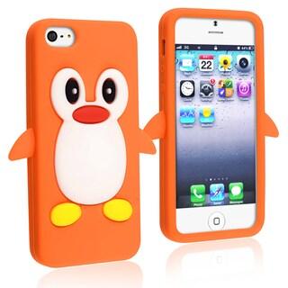 BasAcc Orange Penguin Silicone Case for Apple iPhone 5