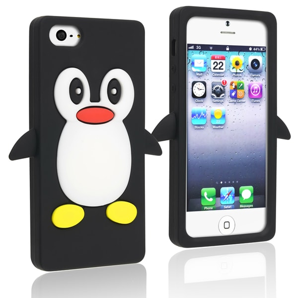 BasAcc Black Penguin Silicone Case for Apple iPhone 5