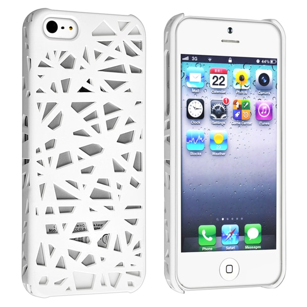 BasAcc White Bird Nest Rear Snap-on Case for Apple iPhone 5
