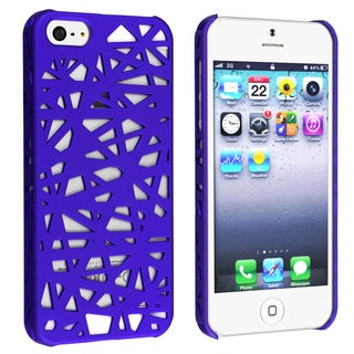 BasAcc Dark Blue Bird Nest Rear Snap-on Case for Apple iPhone 5