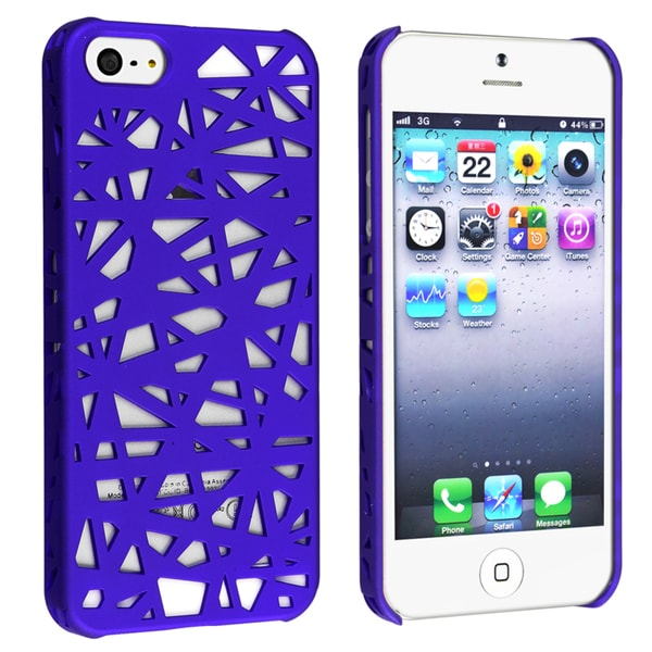 BasAcc Dark Blue Bird Nest Rear Snap-on Case for Apple iPhone 5