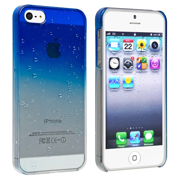 BasAcc Clear Dark Blue Water Drop Snap-on Case for Apple iPhone 5