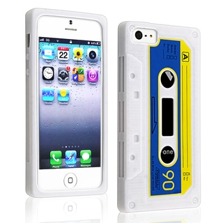BasAcc White Tape Silicone Case for Apple iPhone 5