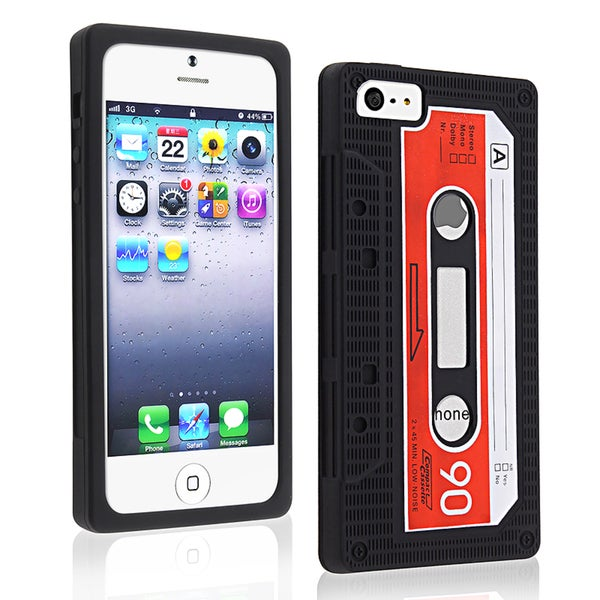 BasAcc Black Tape Silicone Case for Apple iPhone 5