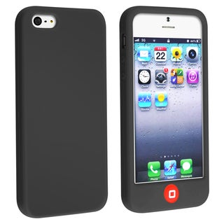 BasAcc Black Silicone Case with Home Button for Apple iPhone 5