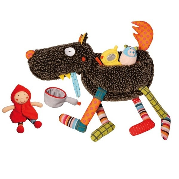 Crazy Cuddly Wolf 5-piece Plush Play Set