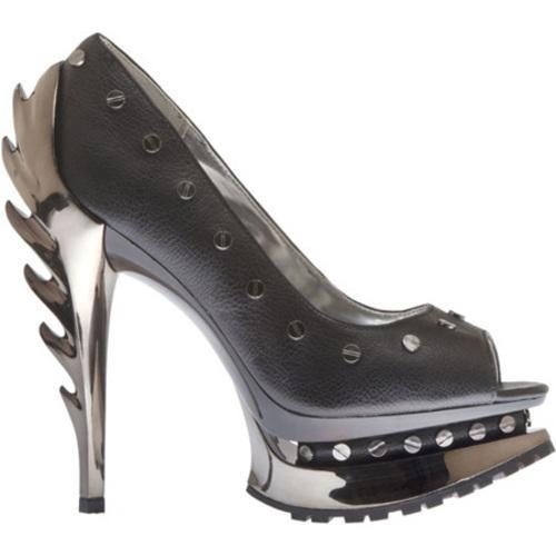 Women's Highest Heel Flame-41 Black Soft Polyurethane