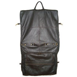 Amerileather Cowhide Leather Brown 3-suit Garment Bag